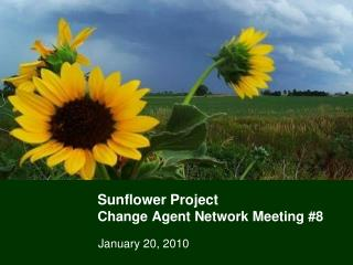 Sunflower Project Change Agent Network Meeting #8
