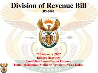 Division of Revenue Bill [B5-2002] 25 February 2002 Budget Hearings