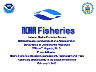 National Marine Fisheries Service National Oceanic and Atmospheric Administration