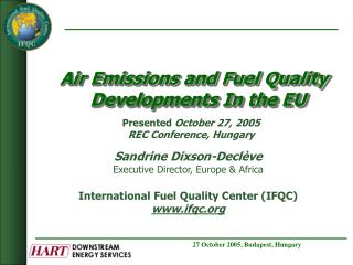 Air Emissions and Fuel Quality Developments In the EU