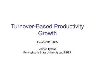 Turnover-Based Productivity Growth