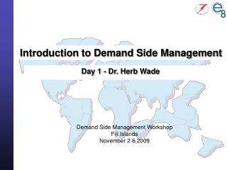 Introduction to Demand Side Management