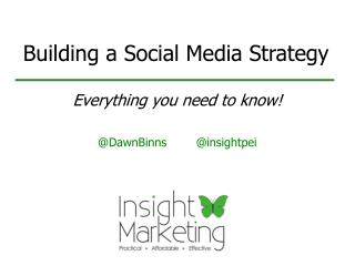 Building a Social Media Strategy