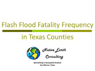 Flash Flood Fatality Frequency in Texas Counties