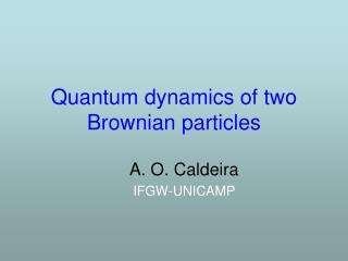 Quantum dynamics of two Brownian particles