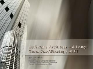 Software Architect   A Long-Term Job