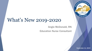 What's New 2019-2020