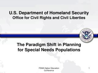 U.S. Department of Homeland Security Office for Civil Rights and Civil Liberties