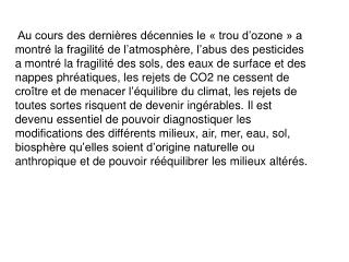 Structure de l'atmosphère