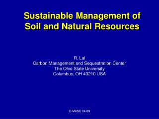 Sustainable Management of Soil and Natural Resources