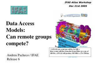 Data Access  Models:  Can remote groups compete?