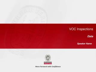 VOC Inspections