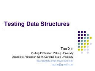 Testing Data Structures