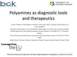 Polyamines as diagnostic tools and therapeutics