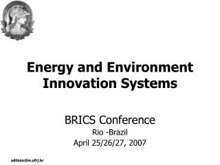 Energy and Environment Innovation Systems