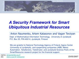A Security Framework for Smart Ubiquitous Industrial Resources