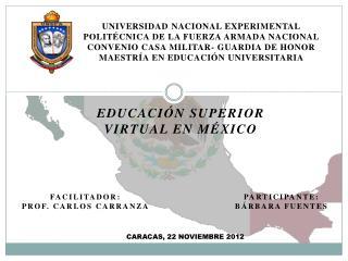 Educación superior virtual en México