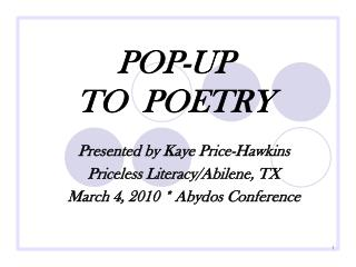 POP-UP  TO  POETRY