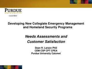 Developing New Collegiate Emergency Management and Homeland Security Programs
