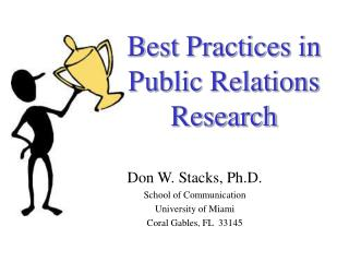 Best Practices in  Public Relations Research