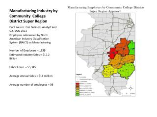 Manufacturing Industry by Community  College District Super Region