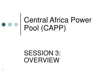 Central Africa Power Pool (CAPP)