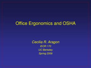 Office Ergonomics and OSHA