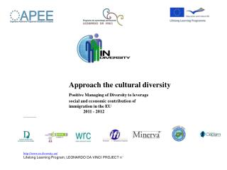 Approach the cultural diversity  Positive Managing of Diversity to leverage