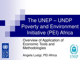 The UNEP – UNDP Poverty and Environment Initiative (PEI) Africa