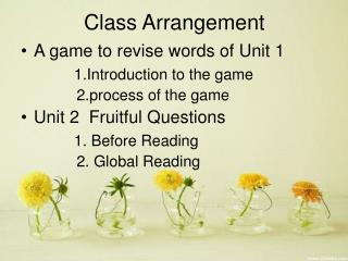 Class Arrangement