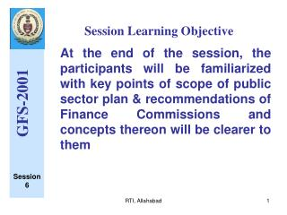 Session Learning Objective