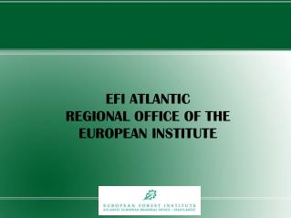 EFI ATLANTIC REGIONAL OFFICE OF THE EUROPEAN INSTITUTE