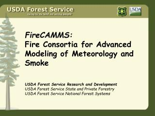 FireCAMMS: Fire Consortia for Advanced Modeling of Meteorology and  Smoke
