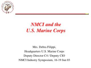 NMCI and the U.S. Marine Corps