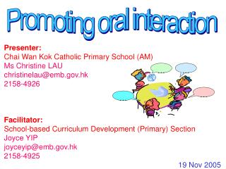Promoting oral interaction