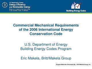 Commercial Mechanical Requirements of the 2006 International Energy Conservation Code