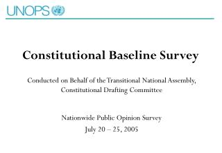 Constitutional Baseline Survey