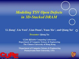 Modeling TSV Open Defects  in 3D-Stacked DRAM