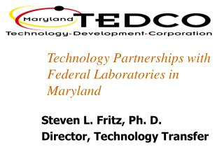 Technology Partnerships with Federal Laboratories in Maryland