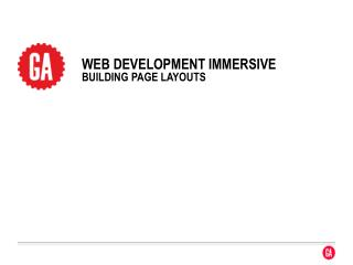 WEB  DEVELOpment  immersive building page layouts