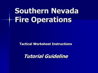 Southern Nevada Fire Operations