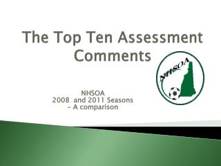 The Top Ten Assessment Comments