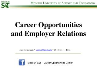 Career Opportunities and Employer Relations