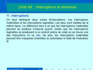 11. Interruptions