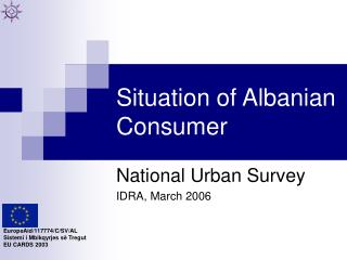 Situation of Albanian Consumer