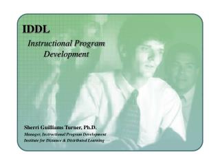 IDDL Instructional Program            Development
