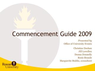 Commencement Guide 2009