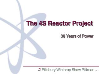 The 4S Reactor Project