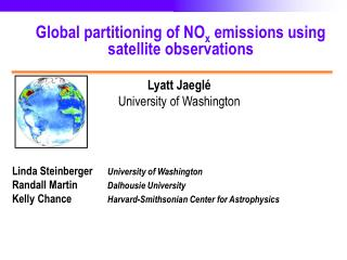 Global partitioning of NO x  emissions using satellite observations