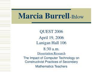 Marcia Burrell -Ihlow